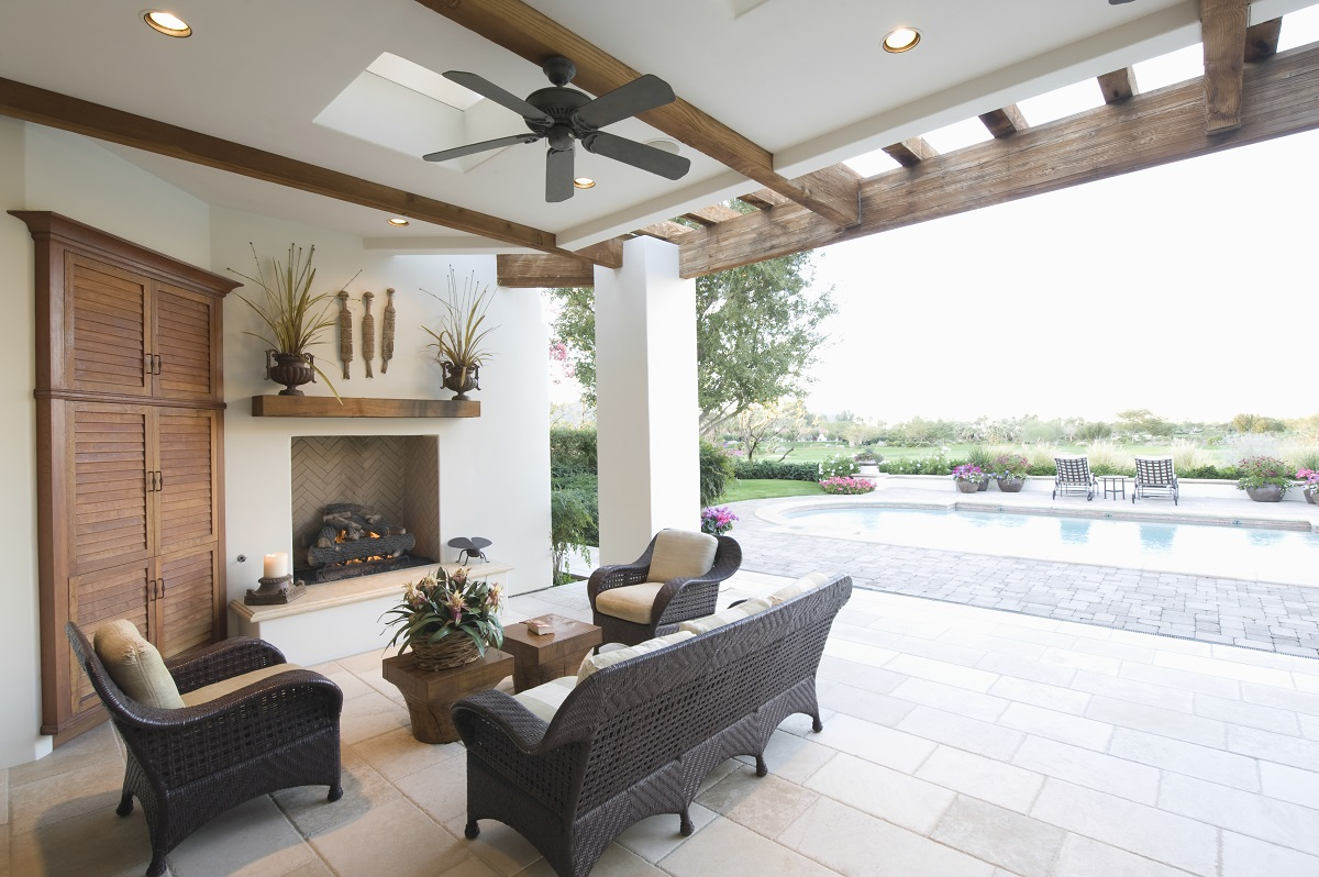 Synthetic outdoor living room